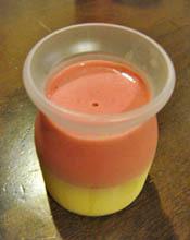 ラズベリーミルクプリン